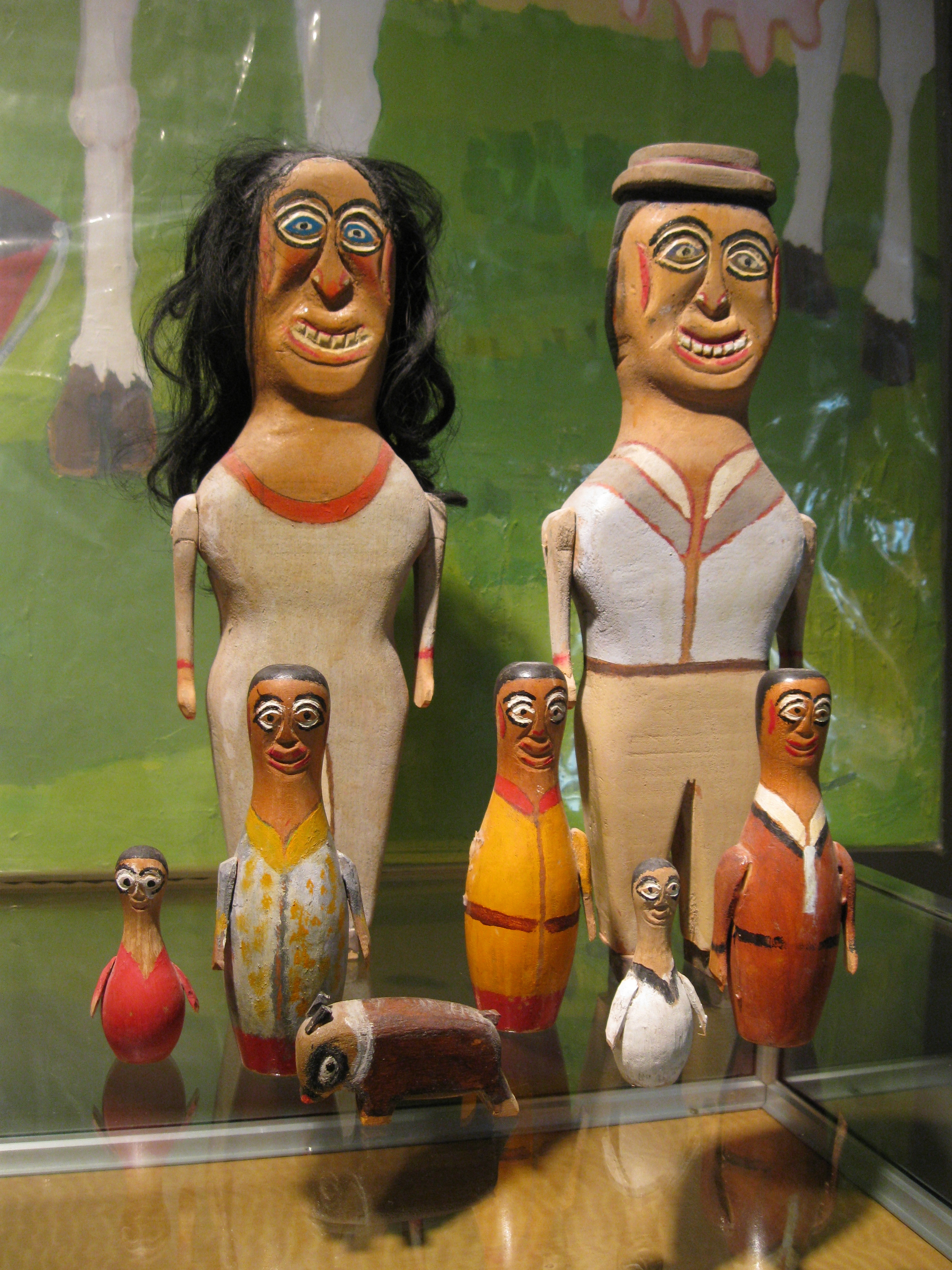 Authentic folk art figures by William Dobson, from the collection Lee Wolfson