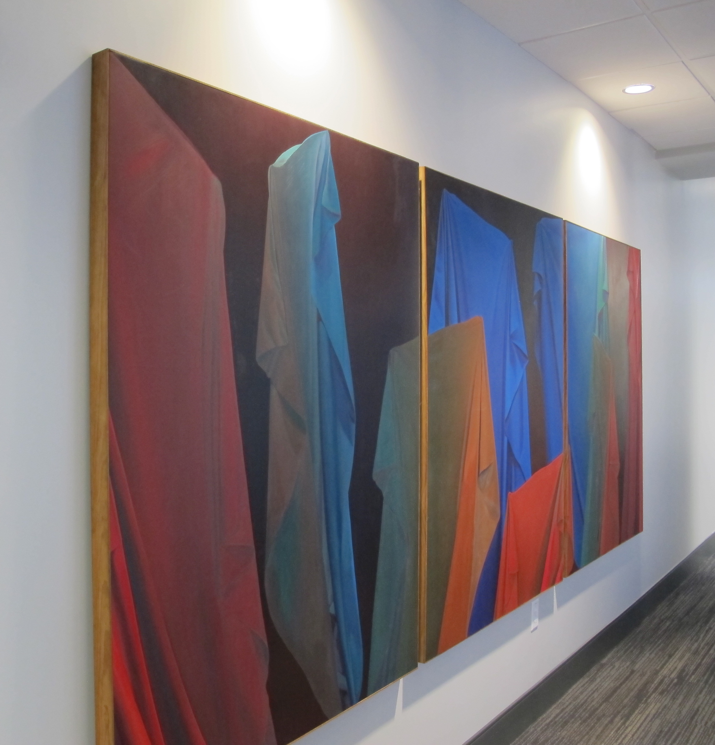 Roberta Schofield triptyct installed by Arthouse3 on client site.
