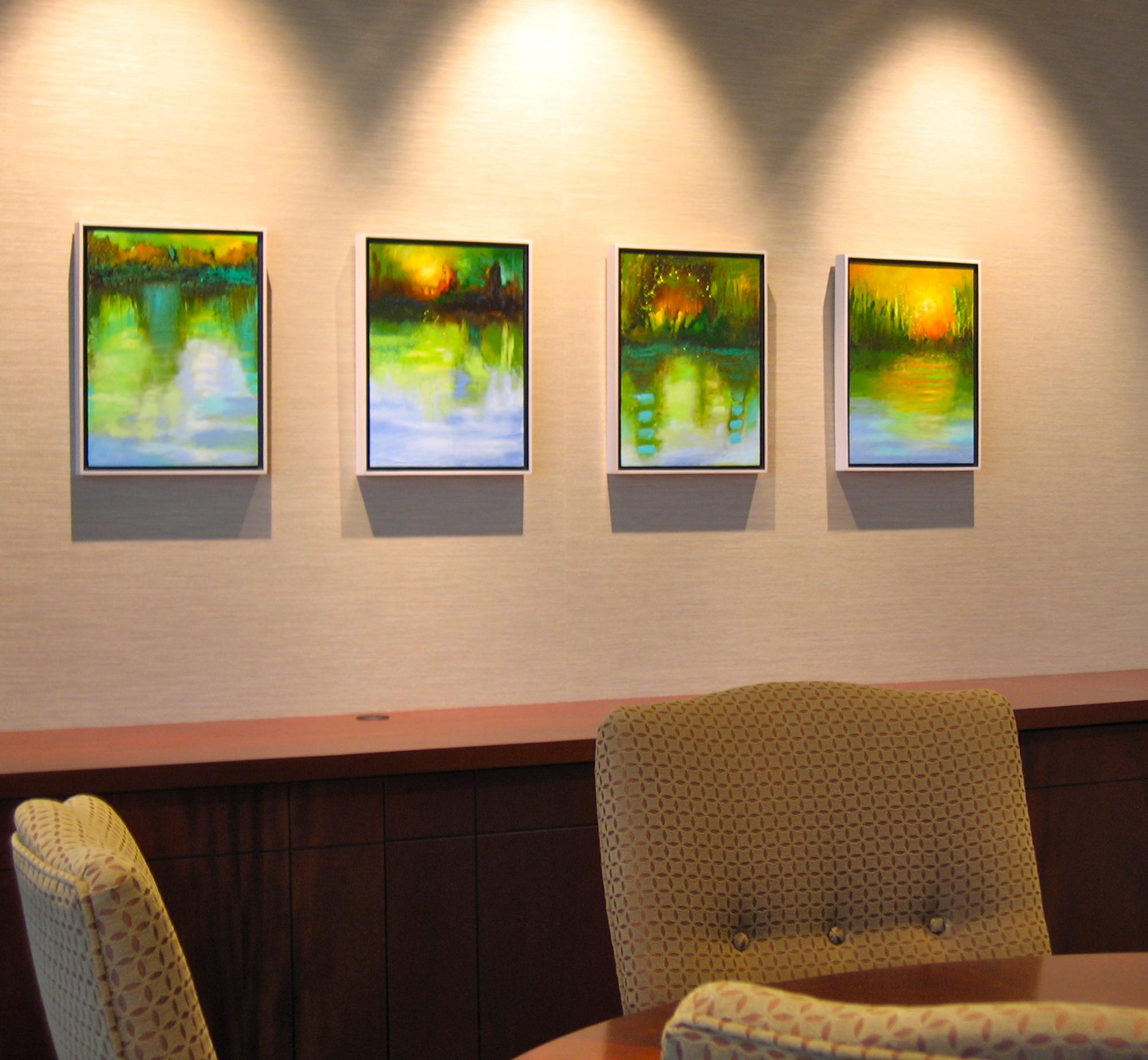 A series of encaustic paintings by Leslie Neumann