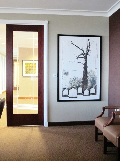 Rebecca Sexton Larson,  Tree House , photography mixed media