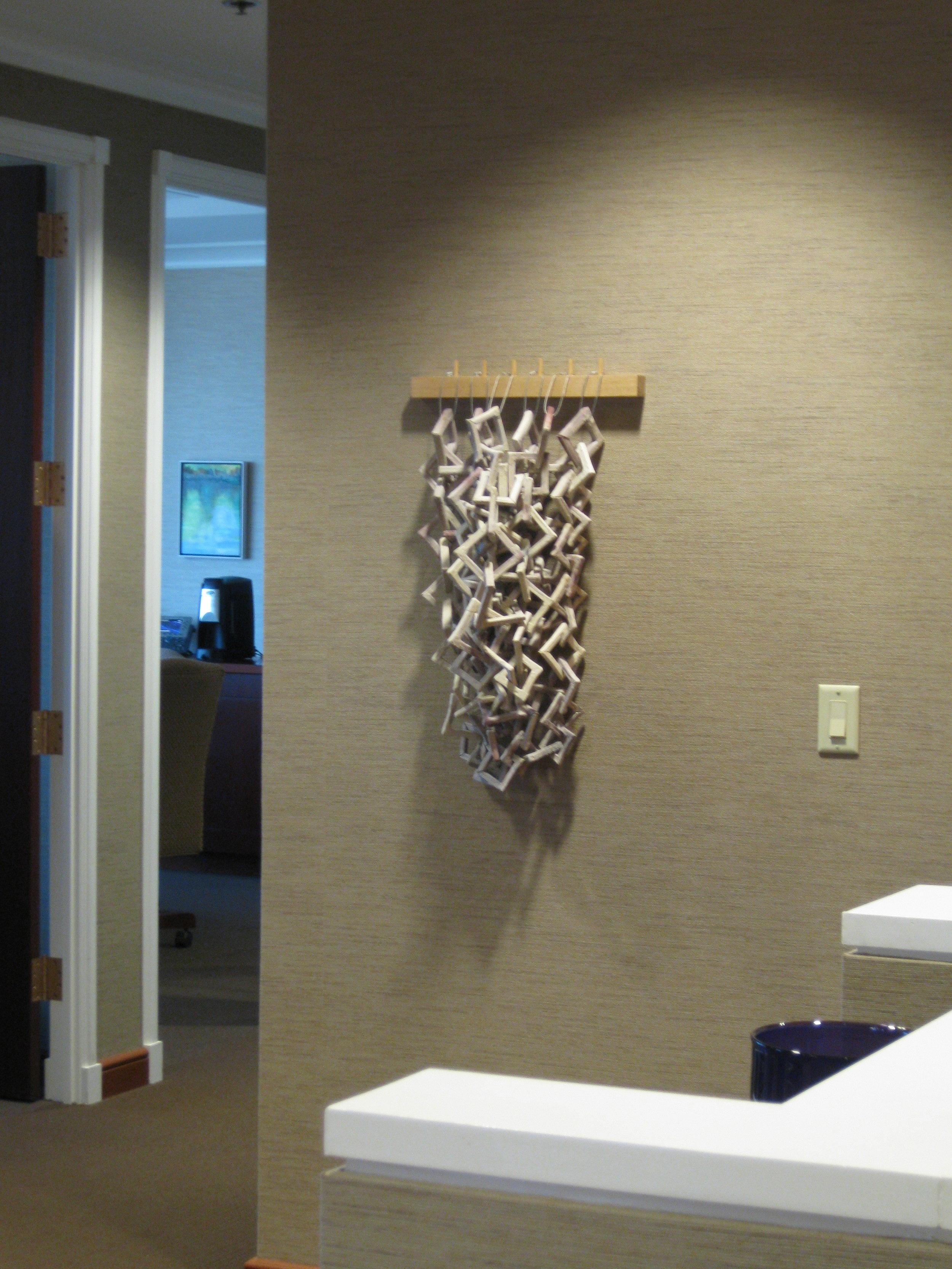 Emerging Artist selection by Maria Albornoz, concrete, wire & wood