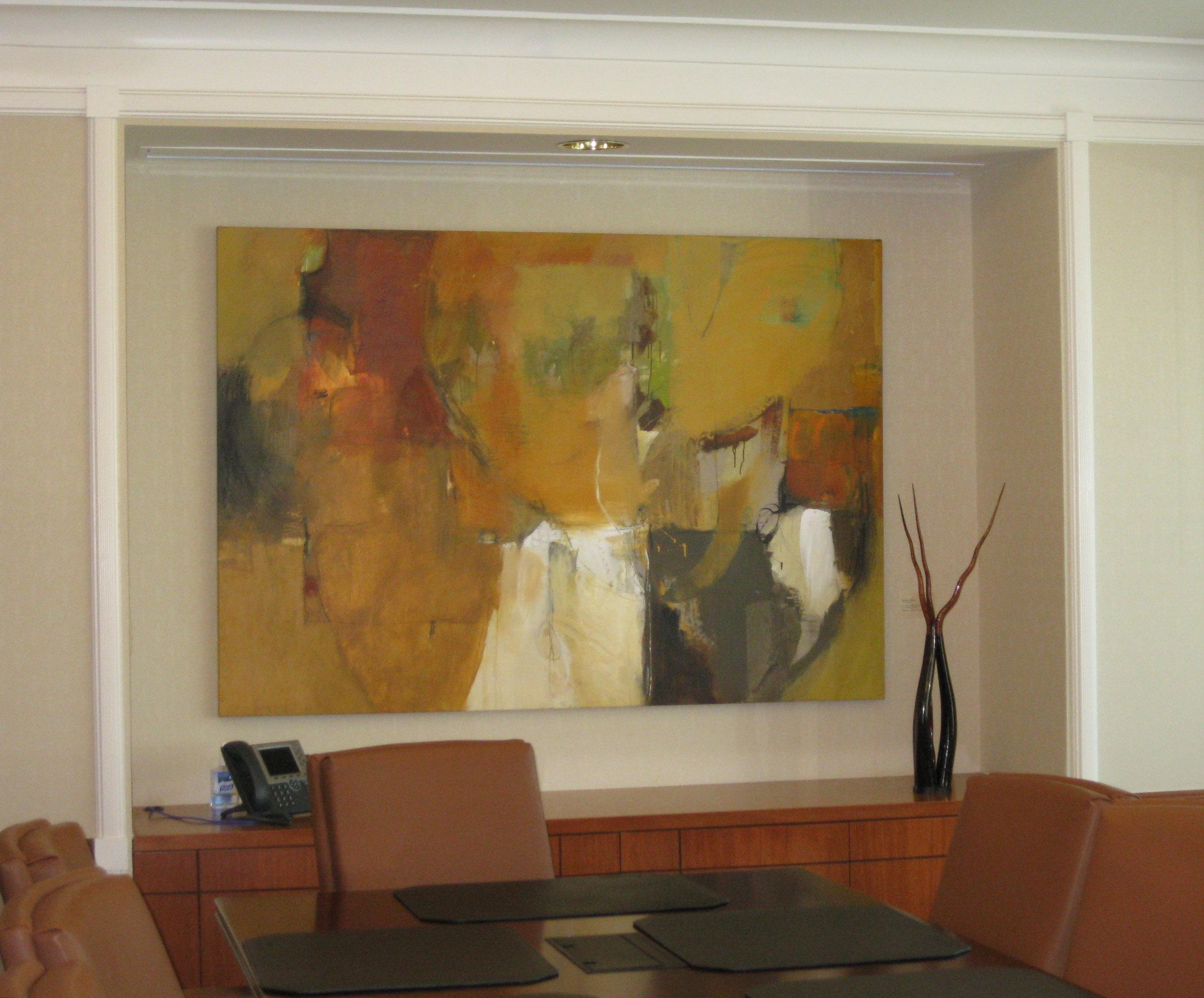 Audrey Phillips, mixed media on canvas; Nancy Cervenka, 8mm & 16mm movie film, sculpture