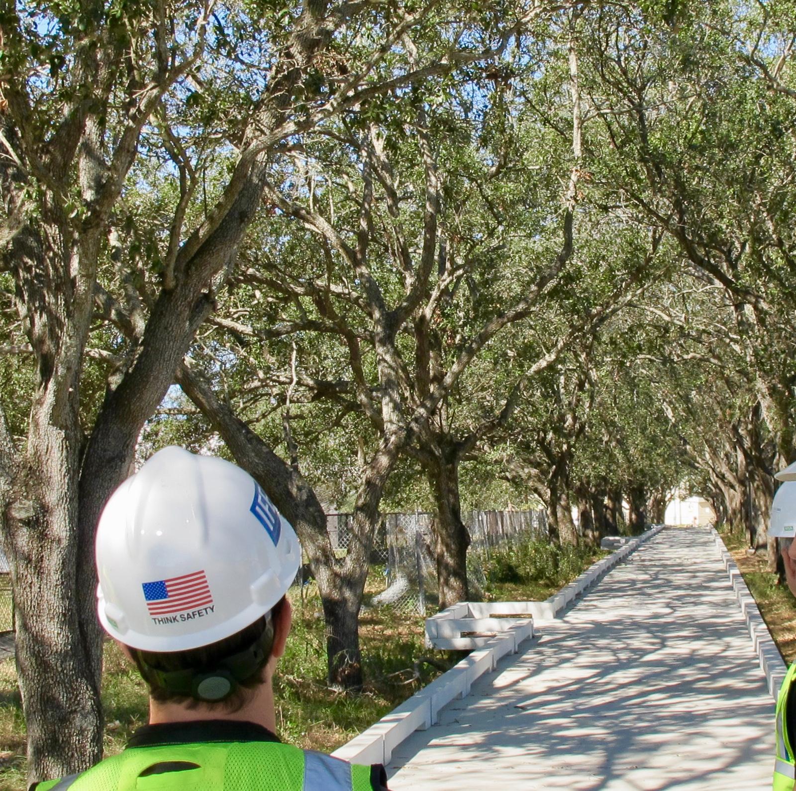 Historic tree walk in process @JBL Riverfront Park