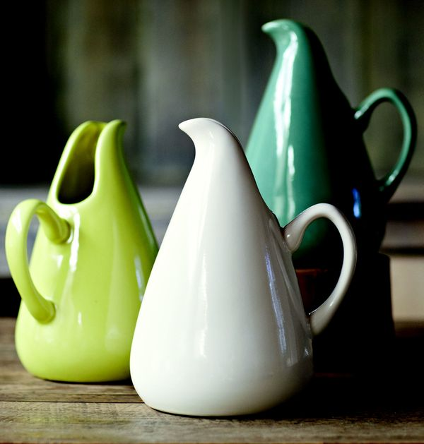 Lucious pottery by Russel Wright which inspired recent road trip to Renninger's Markets in Mount Dora.