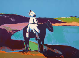 Representative of works in the newly open James Museum; this one by Fritz Scholder.