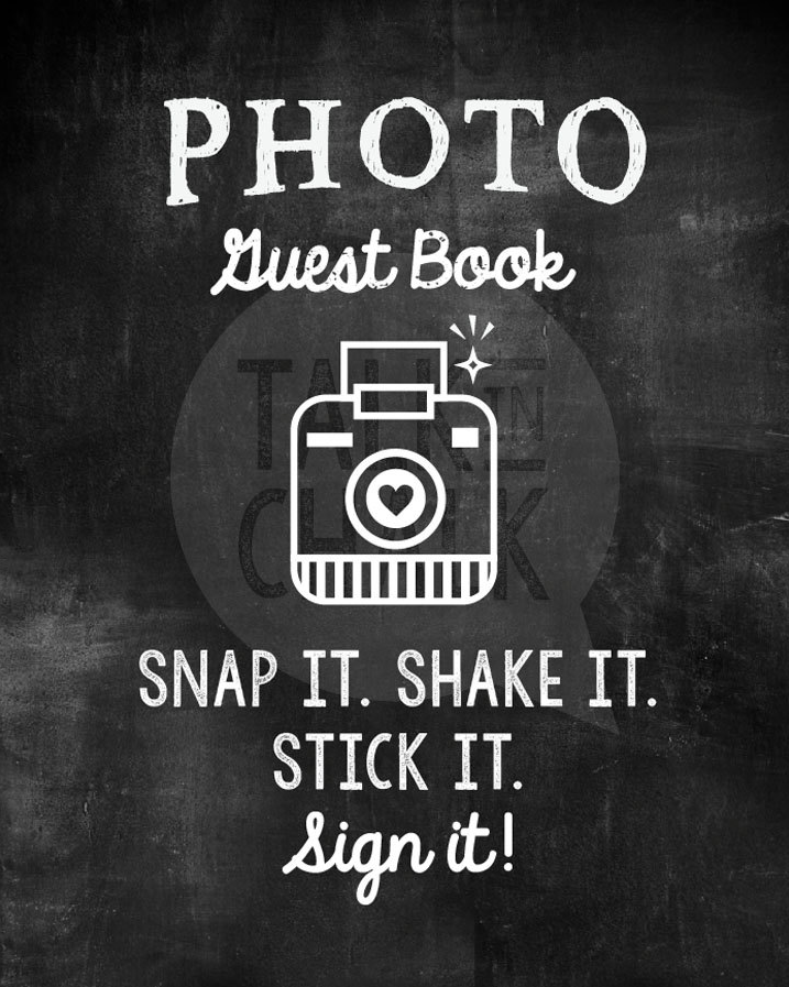 Photo Guest Book Sign by TalkInChalk available on Etsy