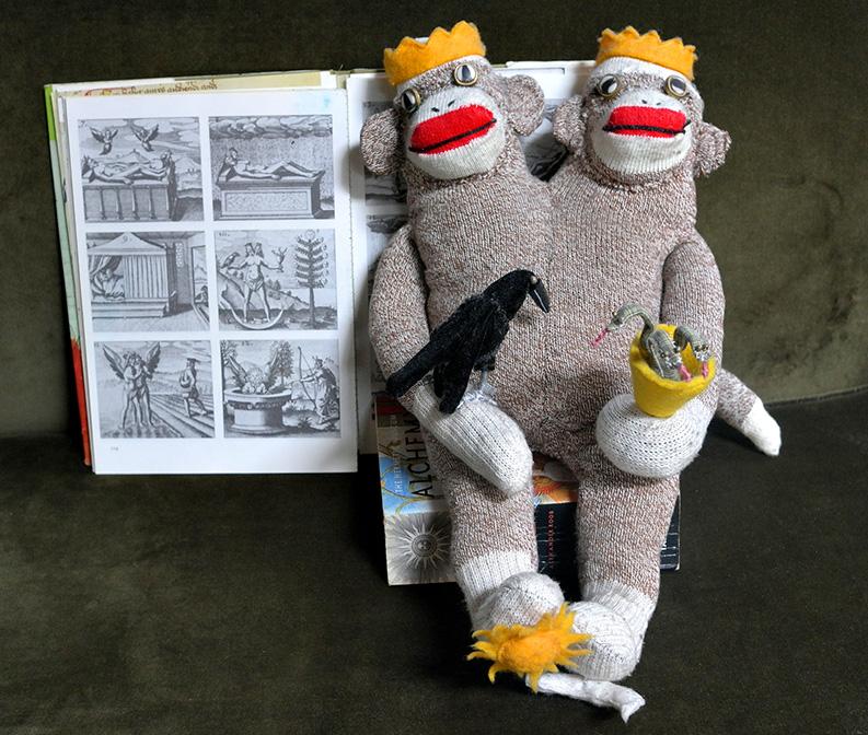 Alchemical Hermaphrodite Sock Monkey (2007)