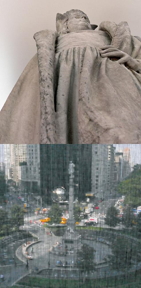 As Above, So Below   Columbus circle installation (Tatzu Nishi) /   Columbus circle