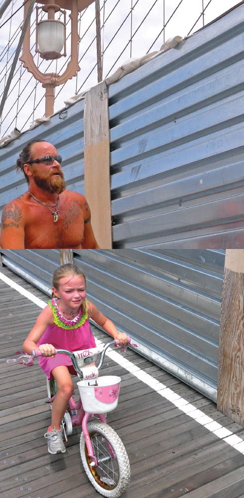As Above, So Below   Brooklyn bridge bicycle rider