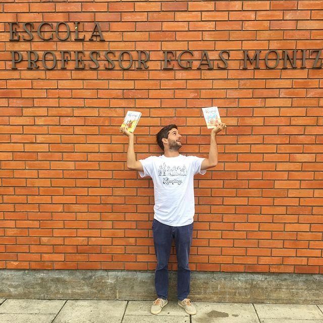 Esta manhã em Avenca os @therumplings na escola Professor Egas Moniz! #tourdelivros #booktour #livrosinfantojuvenis #leya #oficinadolivro