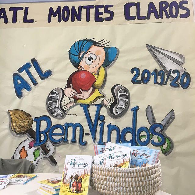 Os @therumplings estão hoje na escola Montes Claros em Coimbra! #tourdelivros #booktour #infantojuvenil #leya #oficinadolivro