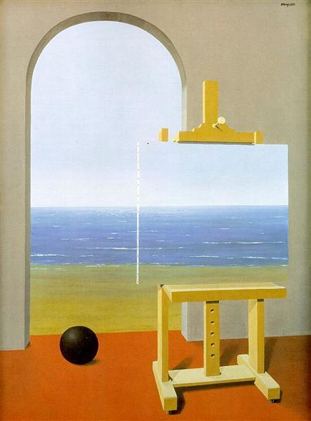 surrealismart :   The human condition 1935    Rene Magritte