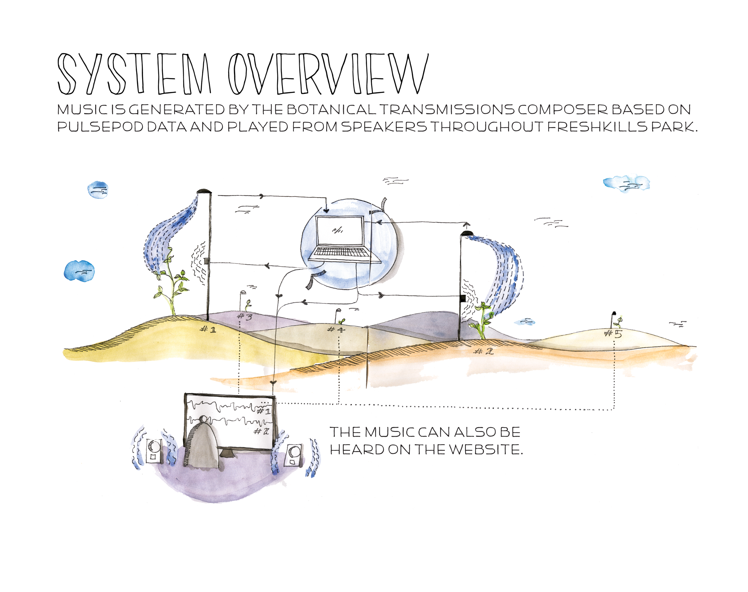 Botantical Transmissions: System Visualization