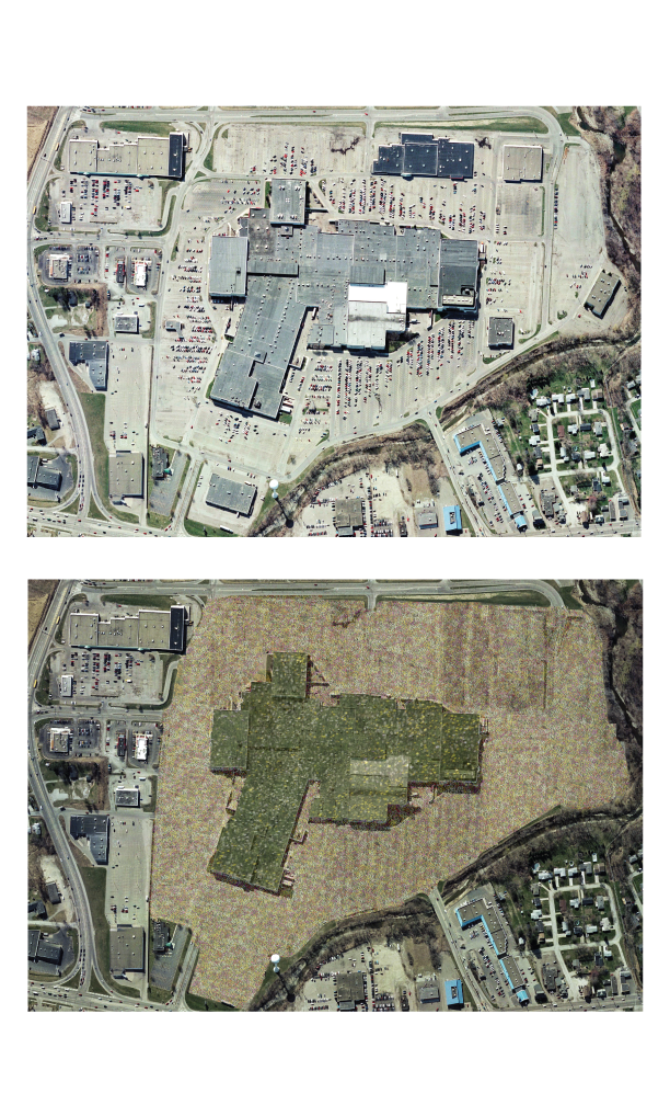 Aerial view of a reclaimed Anthophila site.