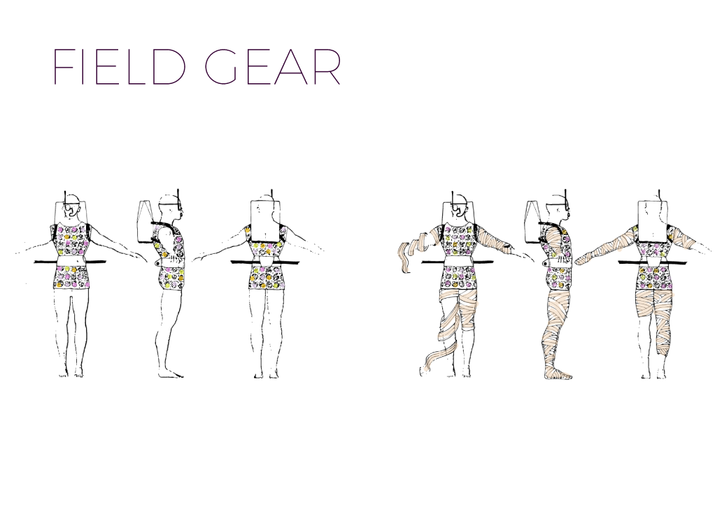 Worker field gear concept sketches.