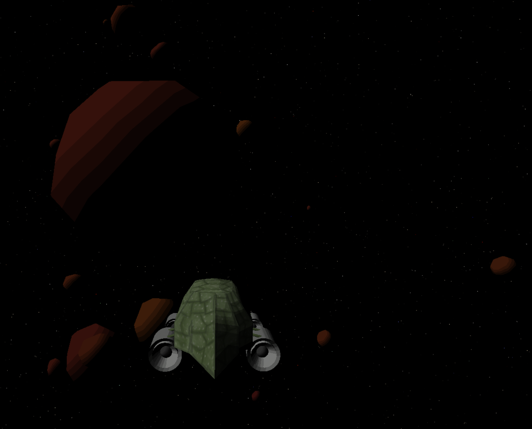 Some Asteroids in amazing 32-bit color