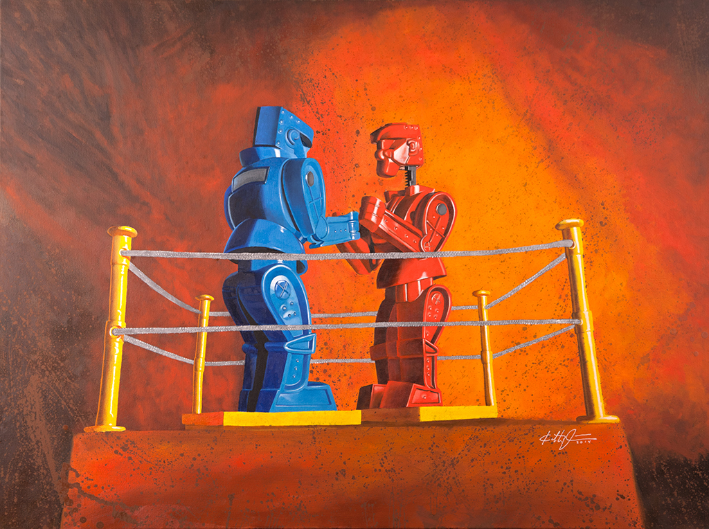 """Rock 'Em Sock 'Em Robots"""