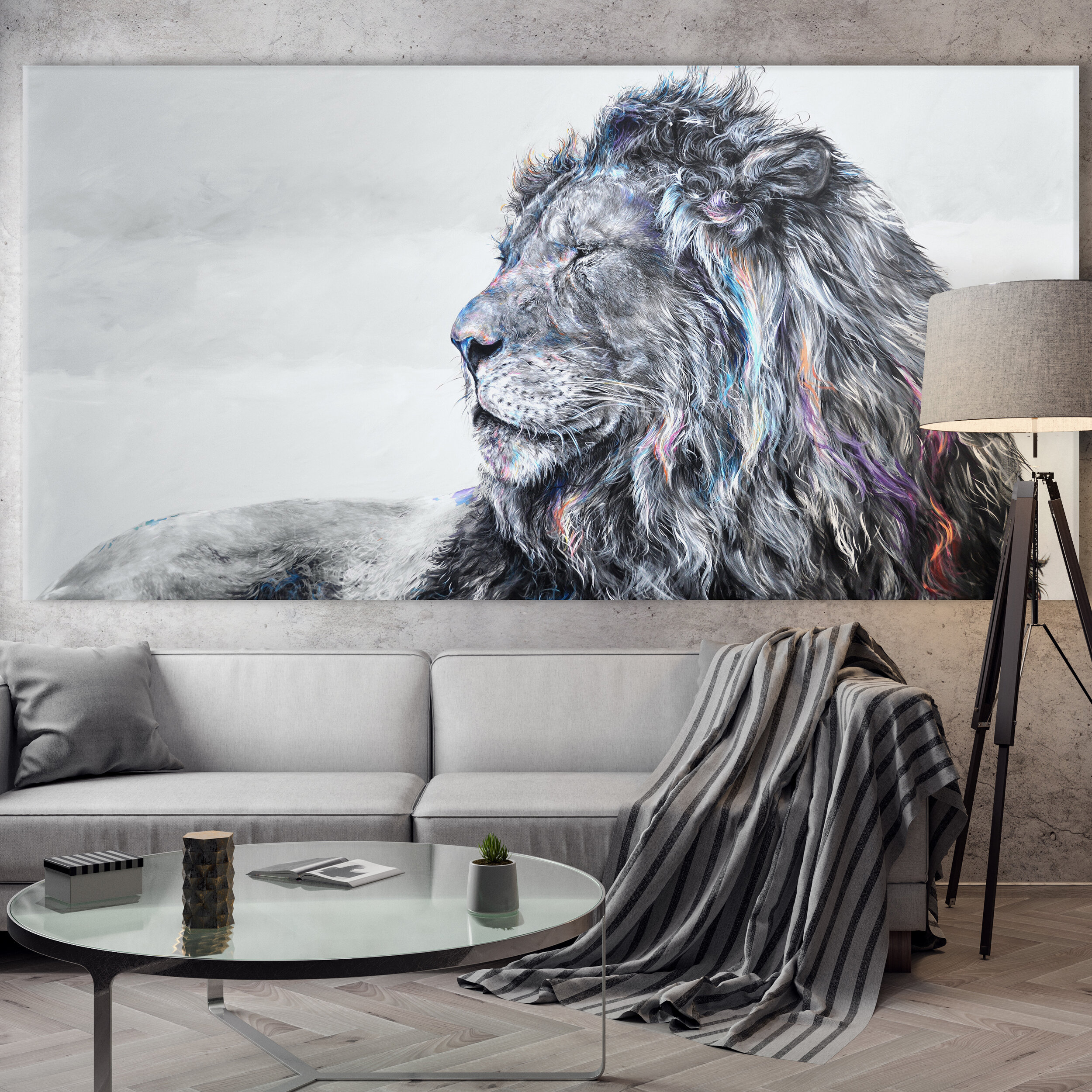 Mockup Poster in the interior, 3D illustration of a modern desig
