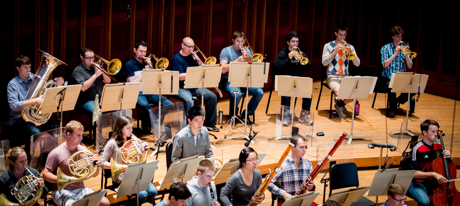 TMC Orchestra Rehearsal: Summer 2014. Full of tremendous talent and many new people to meet.