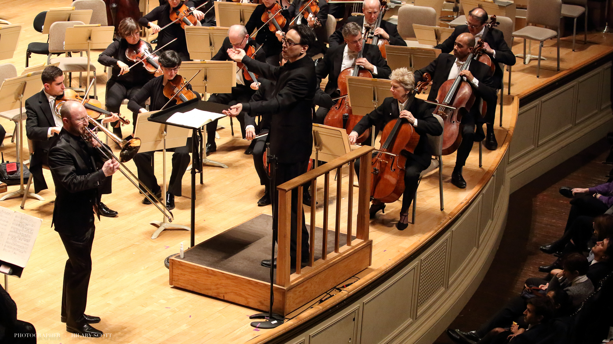 "Boston Globe : Nino Rota is best known in America for his ""Godfather"" and Fellini film scores, and Thursday marked his work's first appearance on a BSO program, with principal trombone Toby Oft playing his galloping, adventurous trombone concerto. The piece's structure evokes a journey down a road of trials, and Oft's lonesome, mellow solos stood as an intimate contrast to the sweeping orchestral texture."
