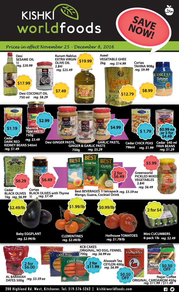 Kishki World Foods Coupons Nov25-Dec8