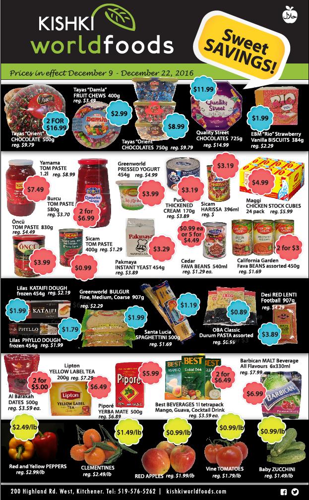 Kishki World Foods Flyer Dec 9-22