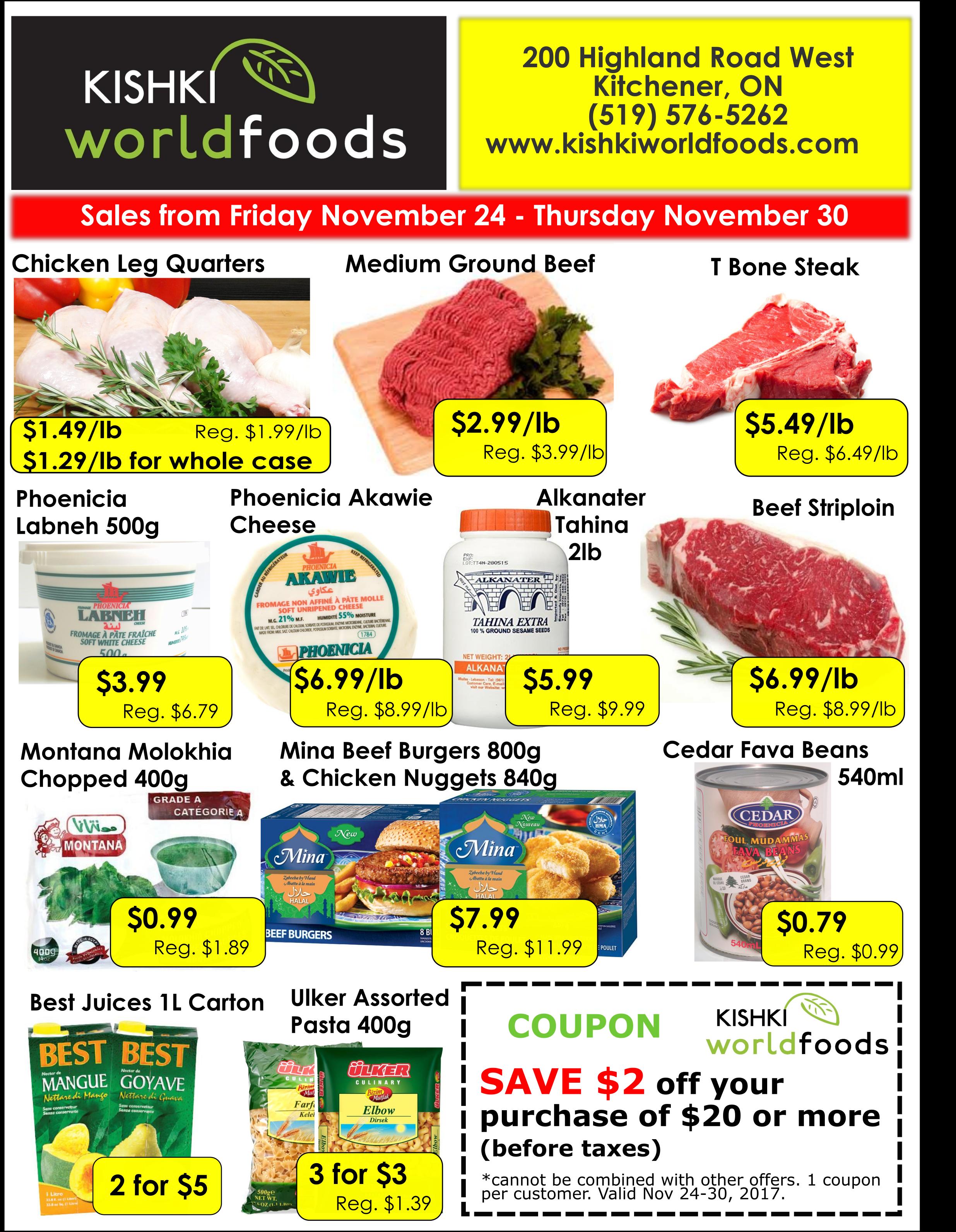 Kishki World Foods Flyer Nov 24-30