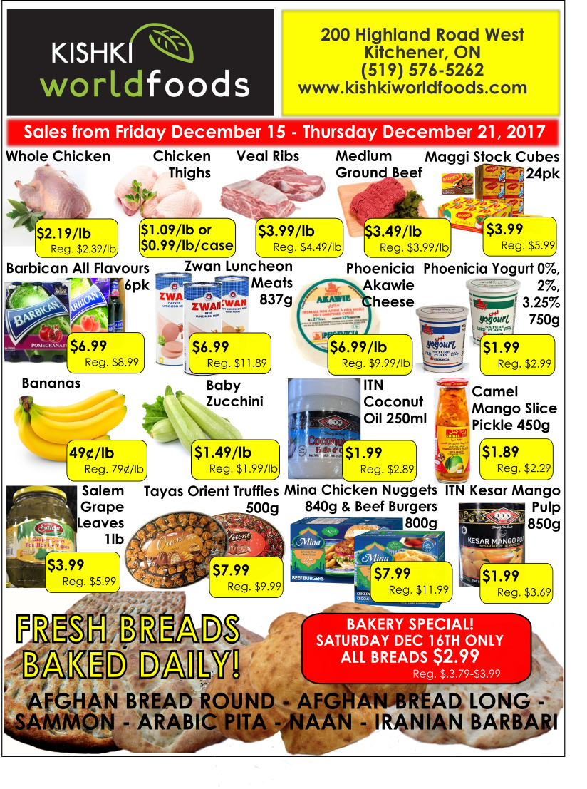 Kishki world foods flyer