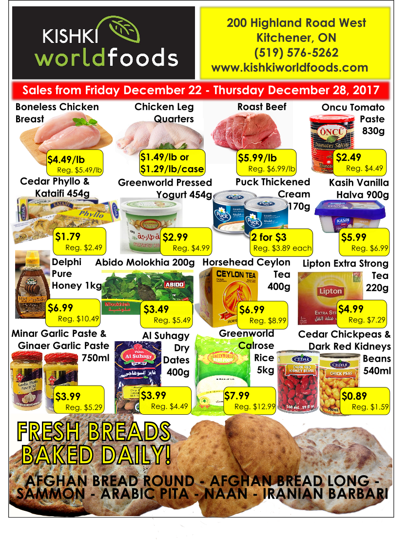 Kishki World Foods Flyer Dec 22-28