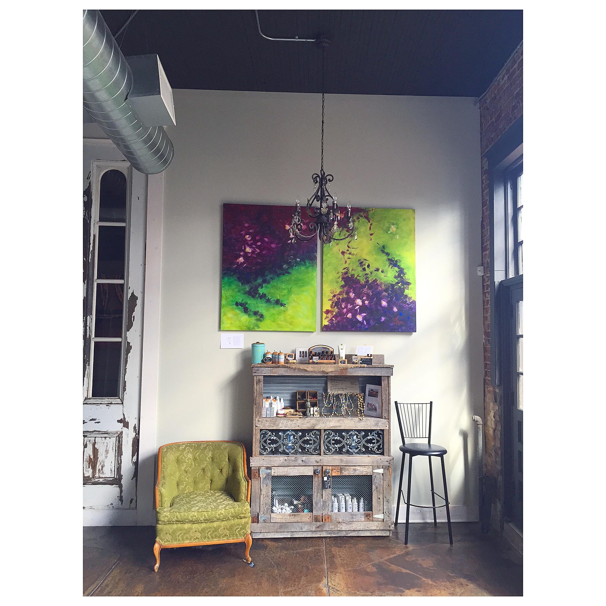 GLANCING acrylic on canvas