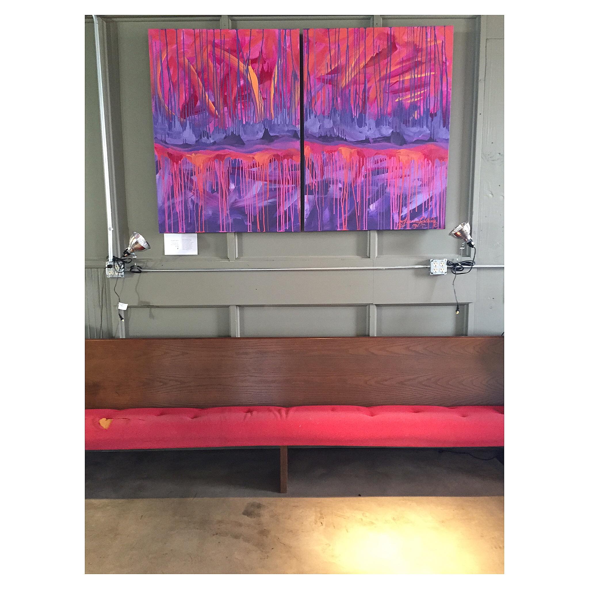RAZZLE DAZZLE acrylic on canvas