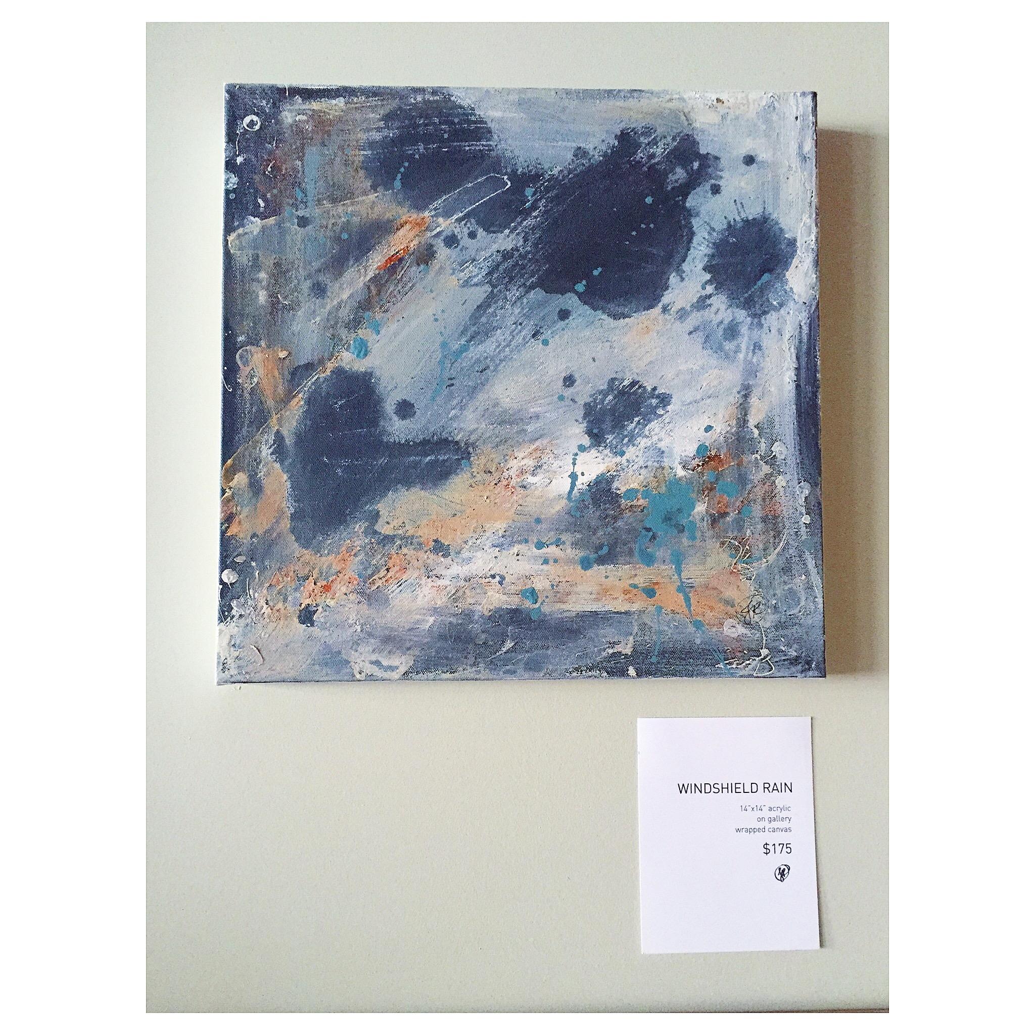 WINDSHIELD RAIN acrylic on canvas