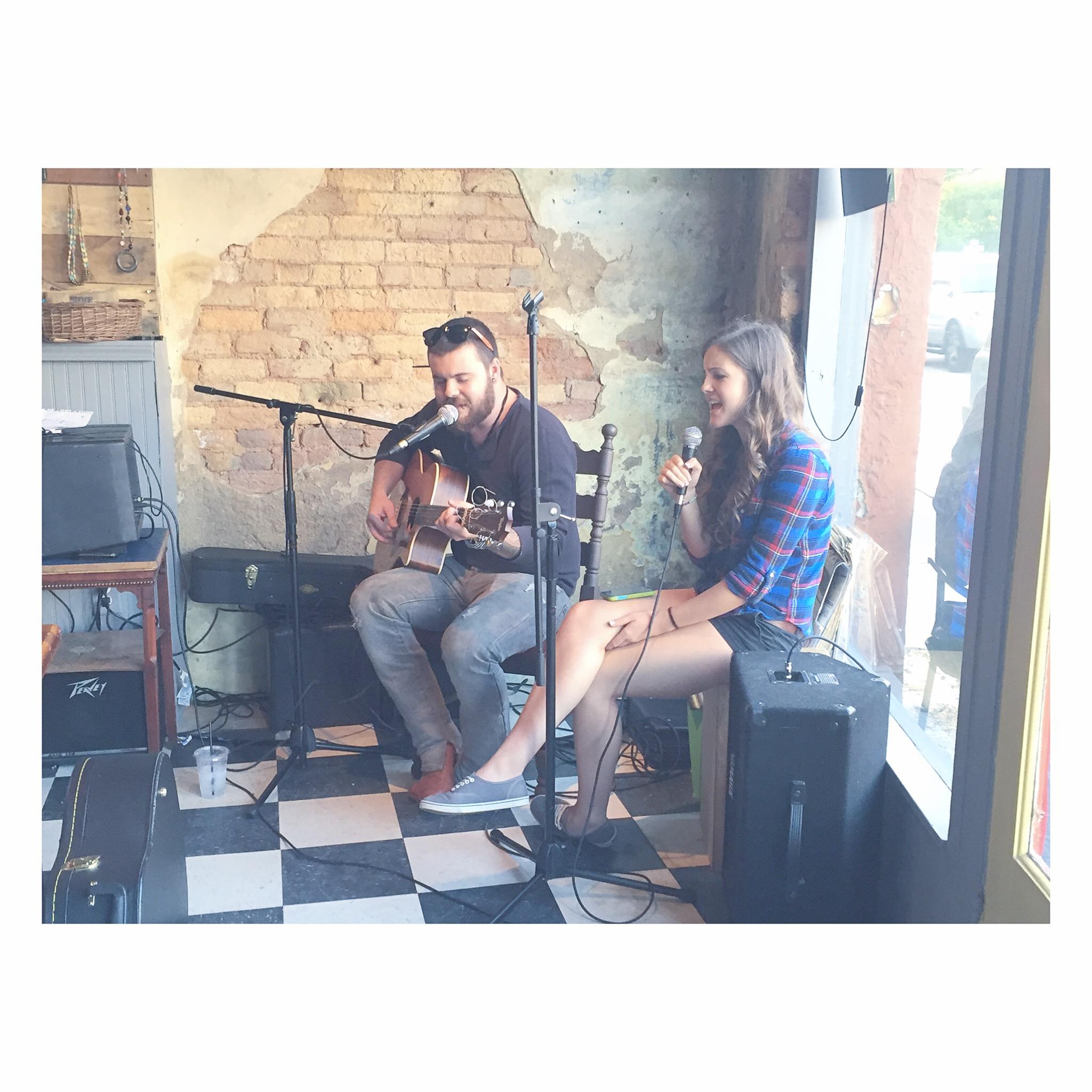 Live music atAWAKE coffee co open mic night.