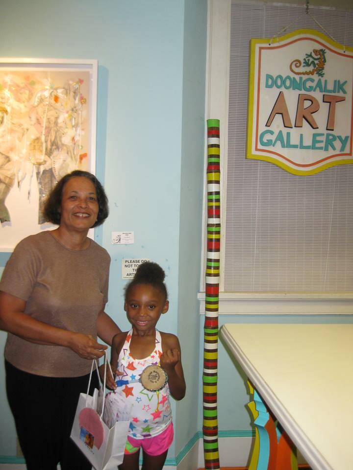 Hannah, aged 5, donating to ASD 2013!