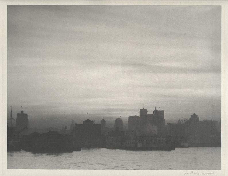 San Francisco,   ca. 1925. Vintage gelatin silver print (Charcoal Black paper). Signed in pencil. Image measures 8 x 10 3/8 inches. Inventory #C0482  Terms  |  Inquire