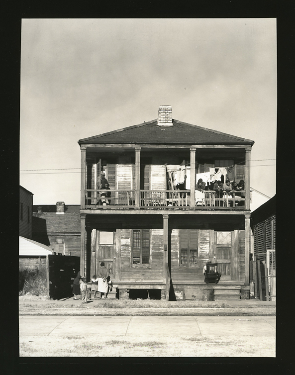 Negro House, New Orleans, Louisiana,   1936. Gelatin silver print, printed ca. 1940s. Image measures 7 9/16 x 5 3/4 inches. Inventory #C1448.  Terms     Inquire