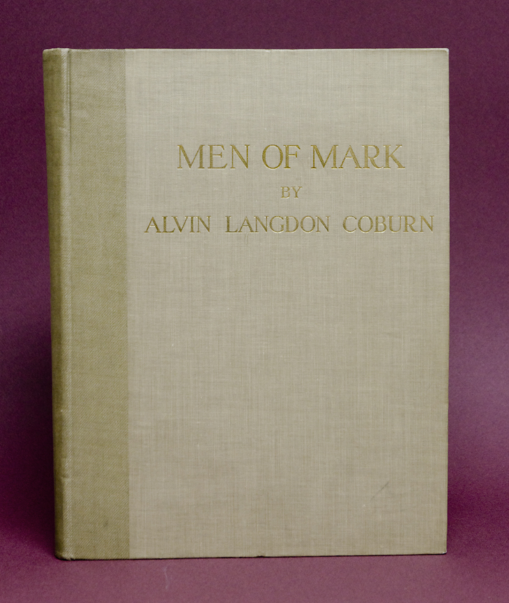 Men of Mark,   1913. Complete with 33 hand-pulled photogravures. Gravure plates made and steelfaced by Coburn and printed under his supervision. Duckworth & Co., London. Inventory #BK035. SOLD  Terms  |  Inquire