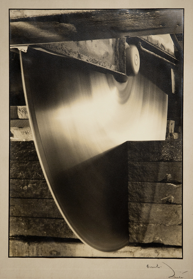 Diamond Edge Saw. Indiana Limestone Company,   1931. Vintage gelatin Silver Print. Image measures 13 3/8 x 9 1/4 inches. Inventory #C1204.  Terms  |  Inquire