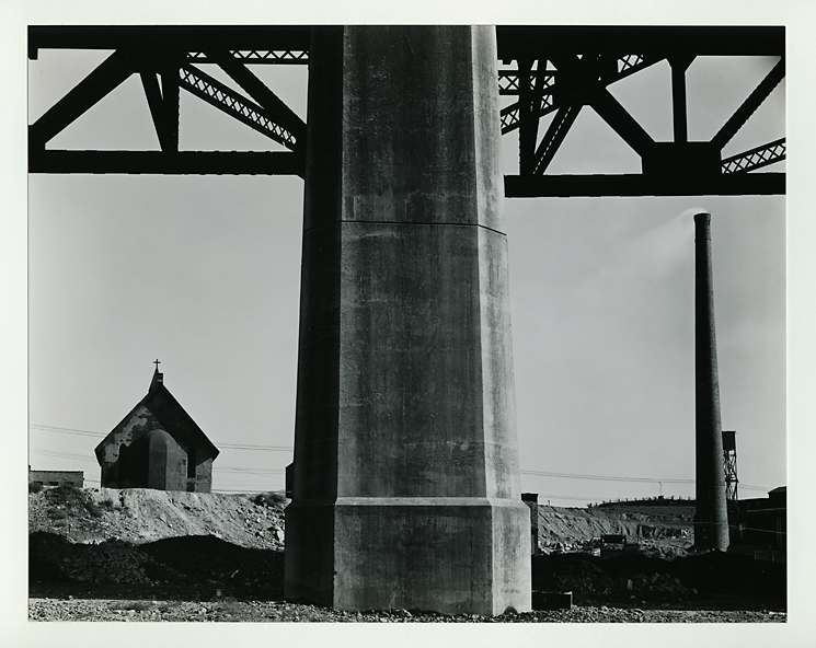 Church, Brooklyn Outskirts,   1945. Gelatin silver print, 1951. Mounted. Signed in pencil on mount recto. Print No. 8 from  New York  Portfolio. Published 1951 in edition of 50 copies. Image measures 7 5/8 x 9 5/8 inches. Inventory #C0556.   Terms  |  Inquire