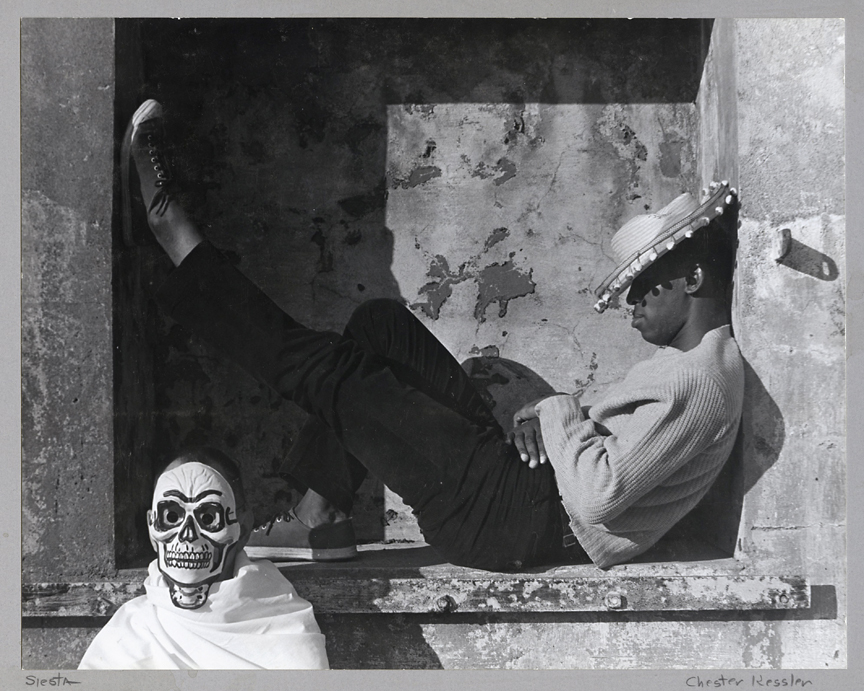 Siesta. Zack Thompson —Improvisation,   1959. Vintage gelatin silver print, ca. 1960. Image measures 7 1/2 x 9 1/2 inches. Titled and signed in pencil on mount front. Credit stamps on mount back. Inventory #CK038. $1,200.  Terms  |  Inquire