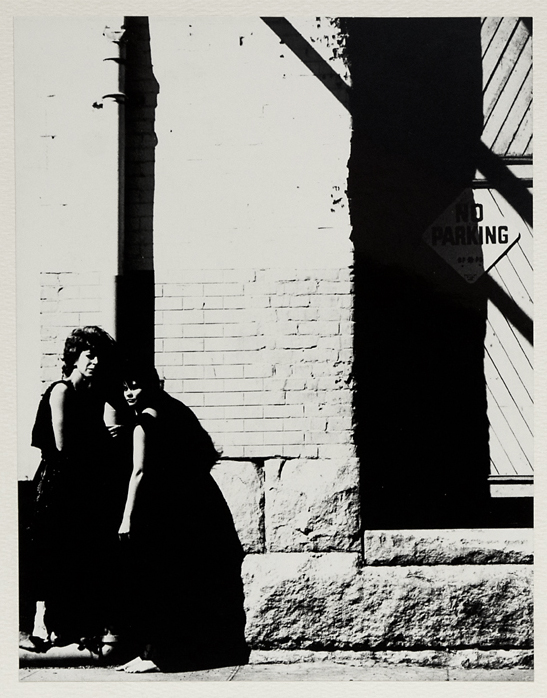 Dancer's Workshop, 1962, Anna Halprin & Lynn Palmer,   1962. Vintage gelatin silver print, ca. 1960s. Image measures 9 1/2 x 7 1/2 inches. Titled and dated on typed label on mount back. Credit stamps on mount back. Inventory #CK029. $500.  Terms  |  Inquire