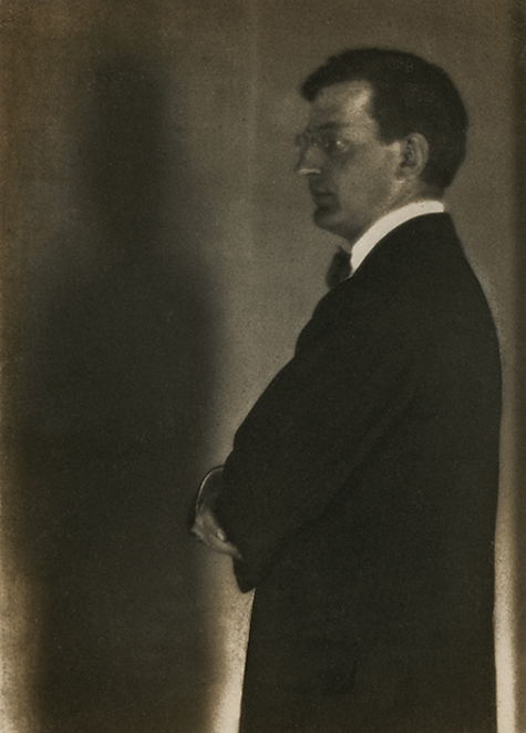Alfred Kreymborg,   1917. Vintage platinum print. Image measures 6 3/8 x 4 9/16 inches. Inventory #MM006.  Terms     Inquire