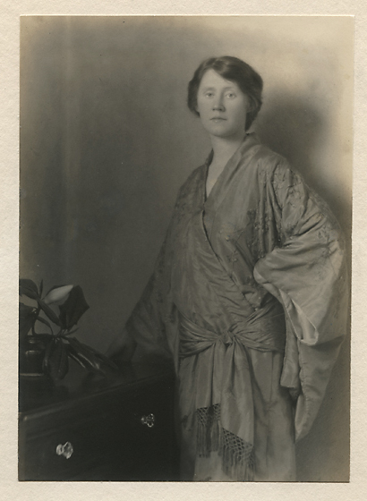 Eleanor, ca. 1917  . Vintage gelatin silver print on mount. Image measures 6 3/8 x 4 9/16 inches. Inventory #MM016.