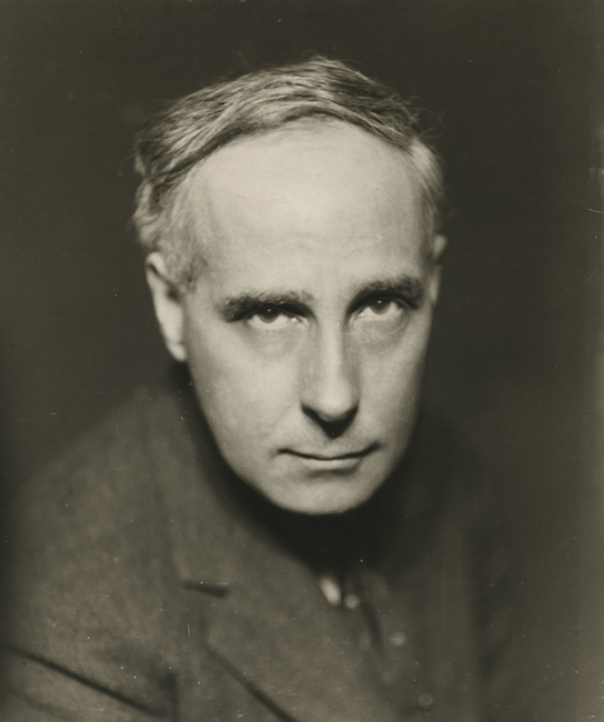 """Self-portrait (attributed),   ca. 1925. Vintage Gelatin Silver Print. Image measures 8 5/8 x 7 1/8 inches. Inscribed """"Francis Brugiere [sic] photographer"""" in pencil on verso. Inventory #C1299.  Terms  