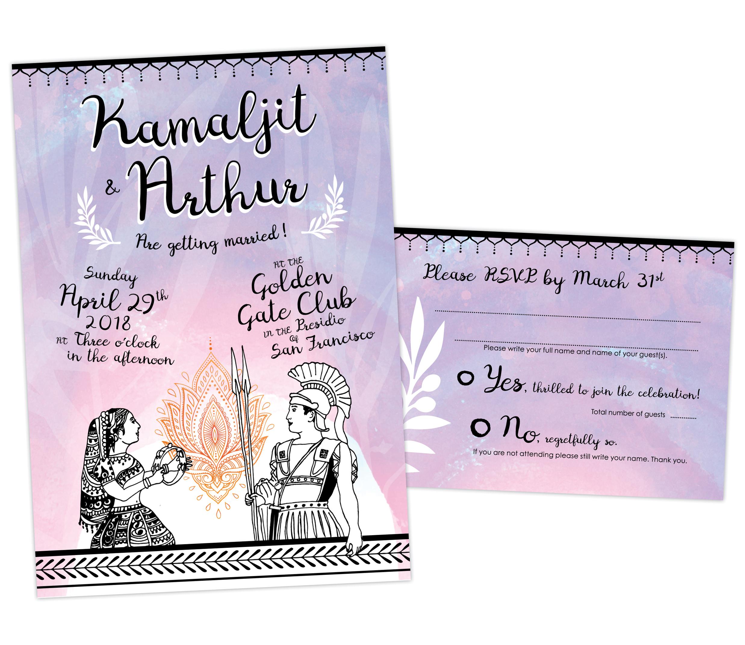 Kamaljit & Arthur Wedding Invitation
