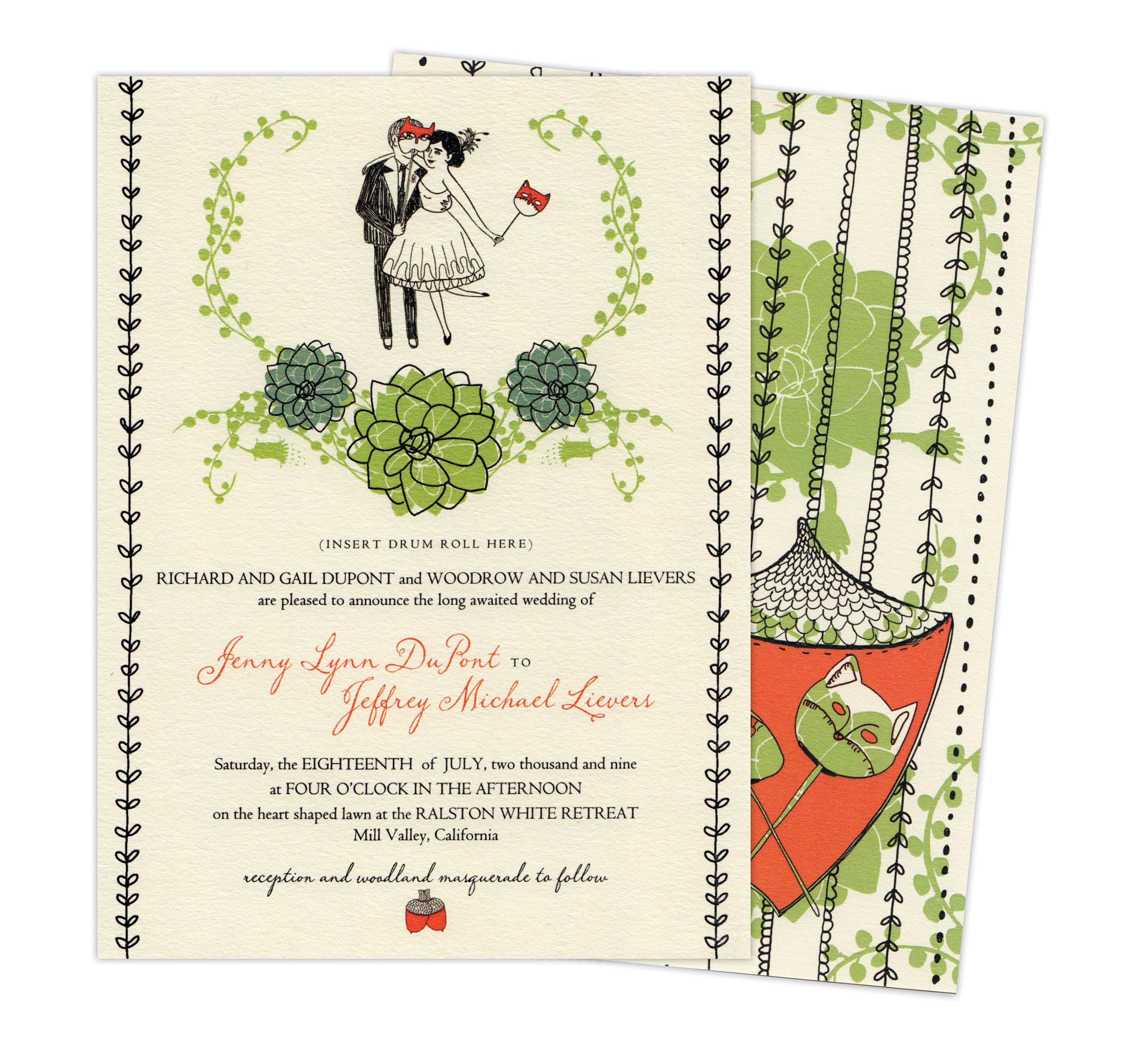 Jenny & Jeff  Wedding Invitation