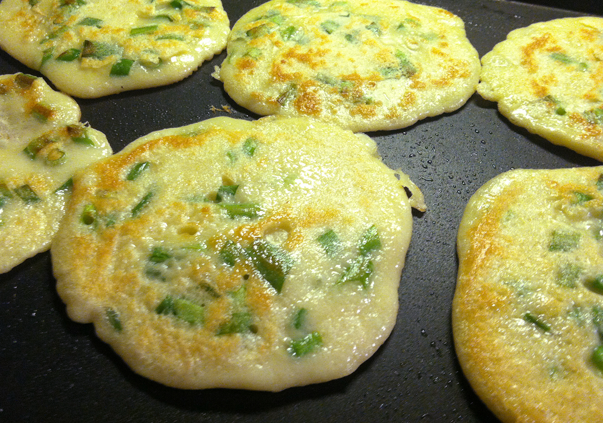 Scallion pancakes can be on the table faster than you can call for and pick up take-out. - Photo by Rachel J. Weston
