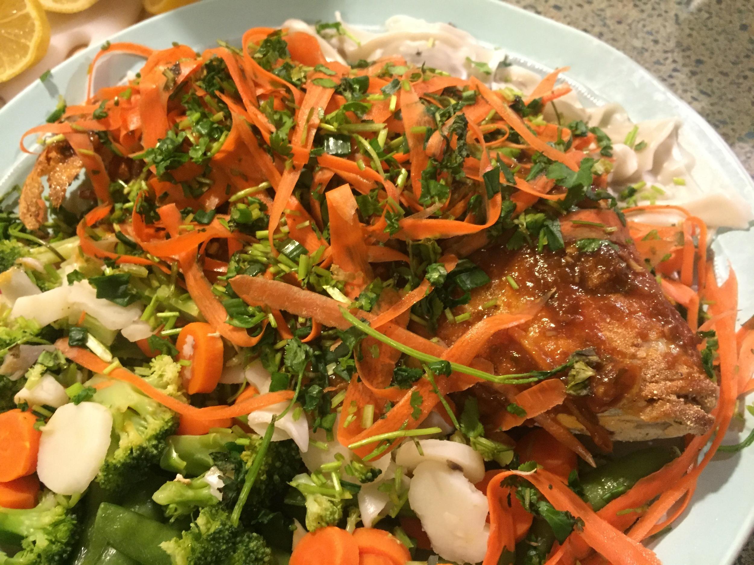 Whole Crispy Fish with Liao's Food Chile Chutney                                         Photo by Rachel J. Weston