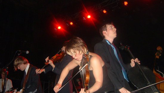With Arcade Fire 2005