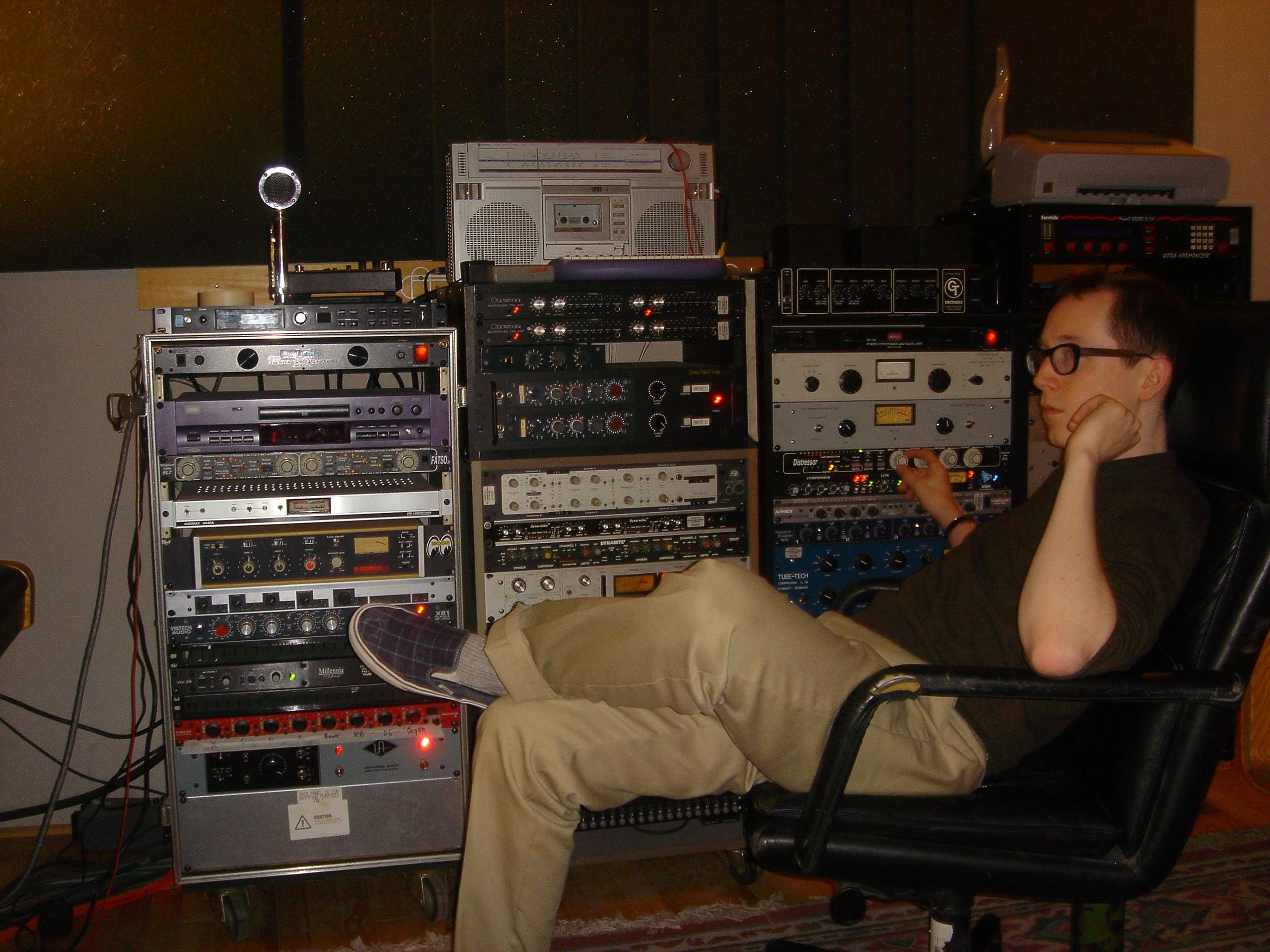 Recording at Halla Music 2010